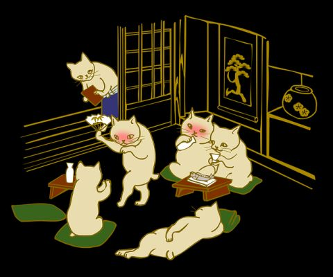 酔っ払う猫たち